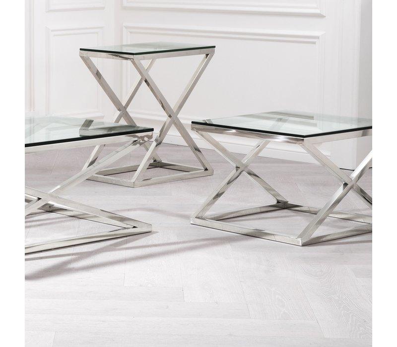 Couchtisch Glas quadratisch- Criss Cross 65 x 65 x 49cm (h)