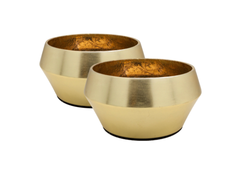 Dome Deco Tealight 'gold' set of 2