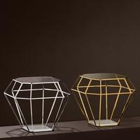 Side Table 'Asscher' Gold