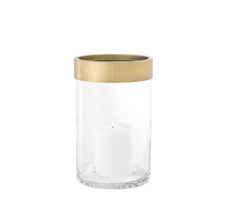 Windlicht 'Vertex S' Gold ø 20 x H. 31,5 cm