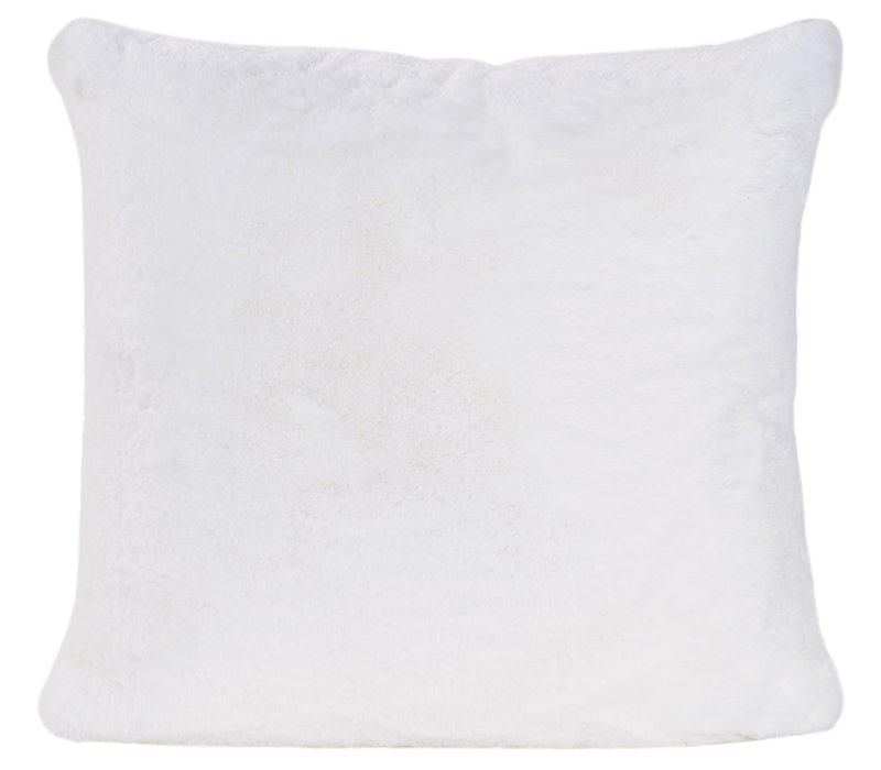 Cushion faux fur 'Guanaco white'