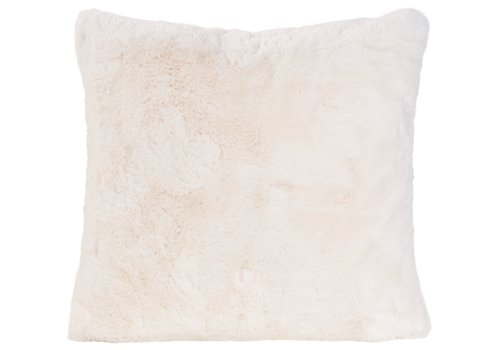 Winter-Home Cushion faux fur Guanaco Cream