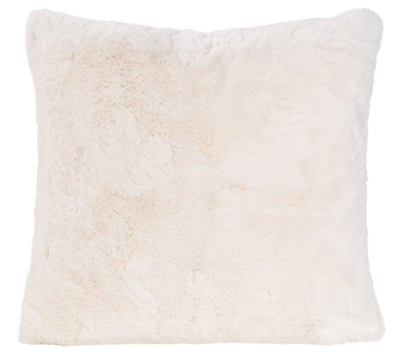 Cushion faux fur 'Guanaco cream'