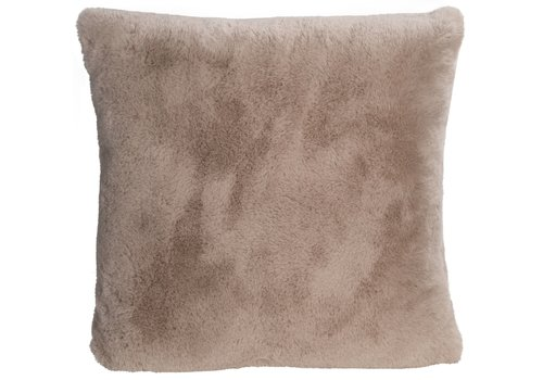 Winter-Home Cushion faux fur Guanaco Pearl