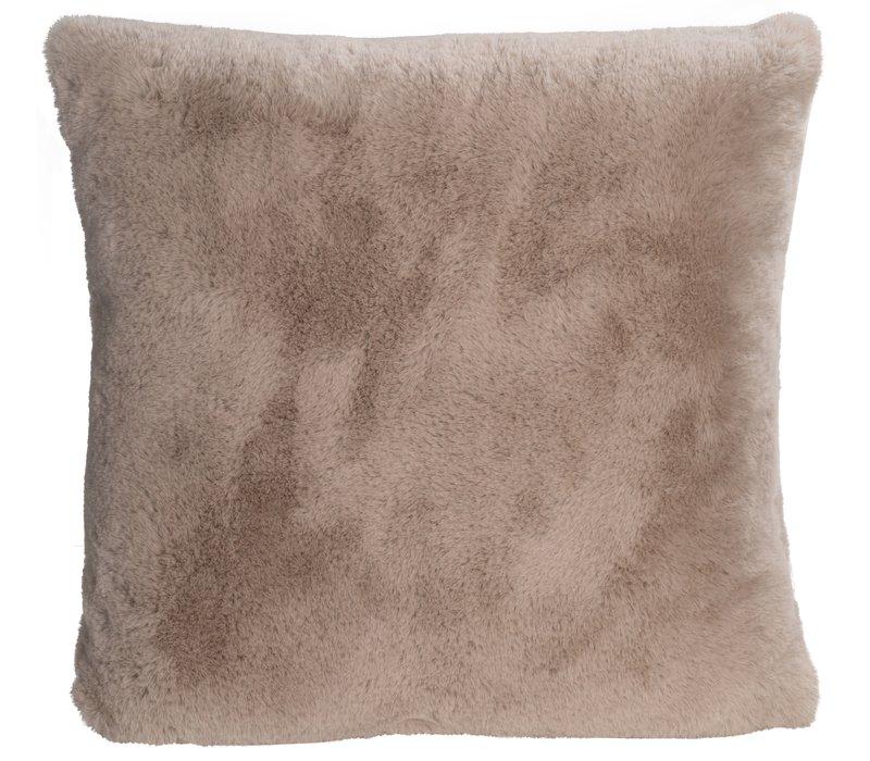 Cushion faux fur 'Guanaco pearl'