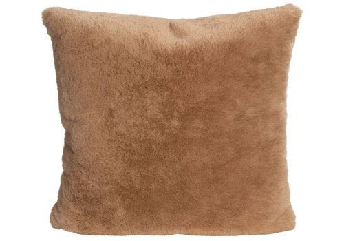 Winter-Home Cushion faux fur Guanaco Camel