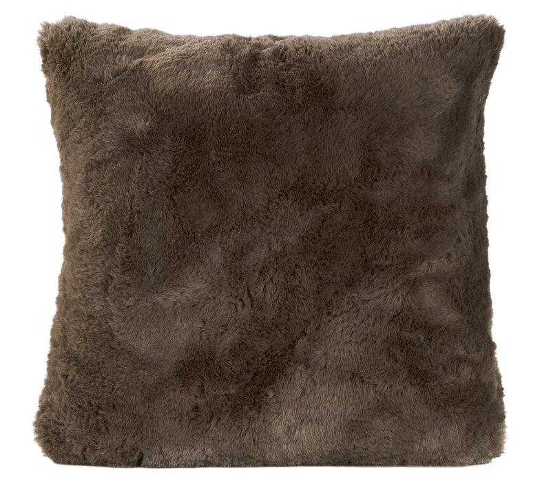 Cushion faux fur 'Guanaco smoke'