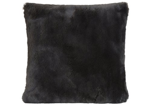 Winter-Home Cushion faux fur Guanaco Anthracite