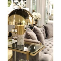 Table Lamp 'Flair' with brass finish and grey marble base