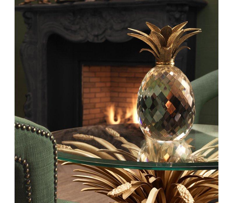 Decoratie object 'Pineapple' Kristalglas