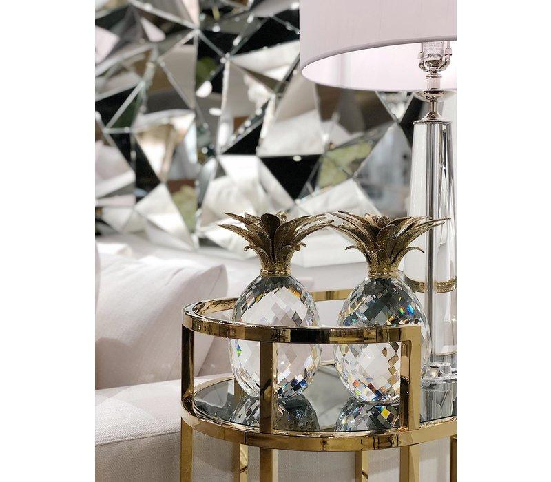 Dekorationsobjekt 'Pineapple' Kristallglas