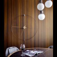 ronde klok 'Mini Bilbao' minimalistisch ontwerp