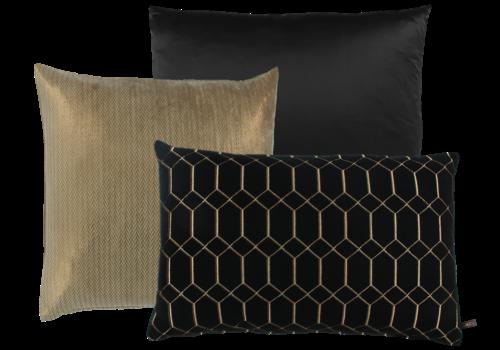 CLAUDI Cushion combination Black & Gold: Dafne, Lynzee & Petter