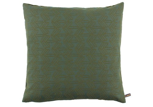 CLAUDI Cushion Kvadrat Fender Olive - Dark Mint