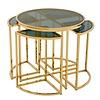 EICHHOLTZ Designer-Beistelltisch 'Vicenza' Gold ø 60 x H. 55 cm