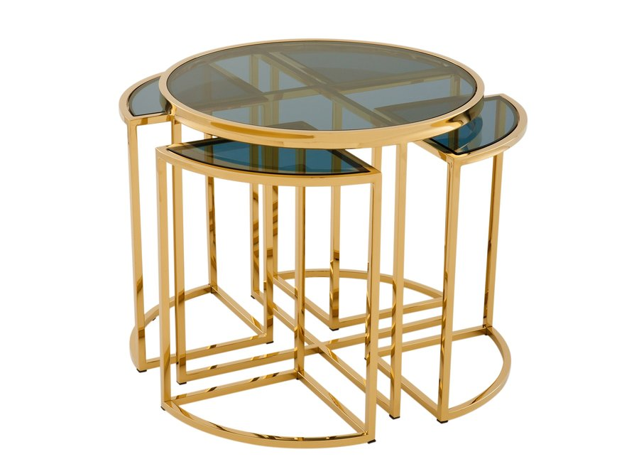 Design bijzettafel 'Vicenza' Gold