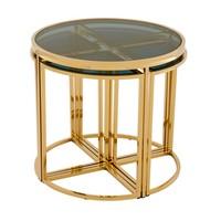 Design side table 'Vicenza' Gold ø 60 x H. 55 cm