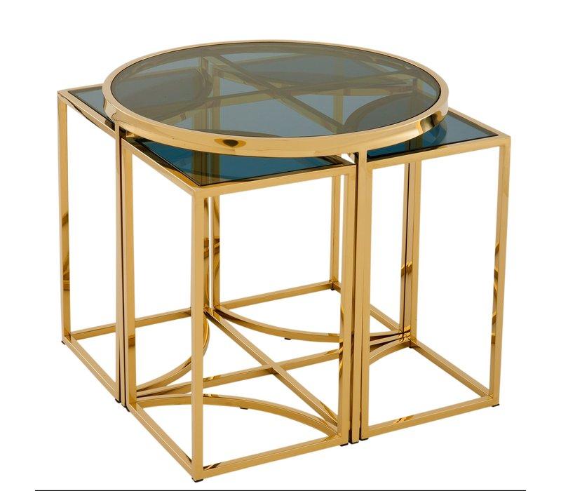 Designer-Beistelltisch 'Vicenza' Gold ø 60 x H. 55 cm
