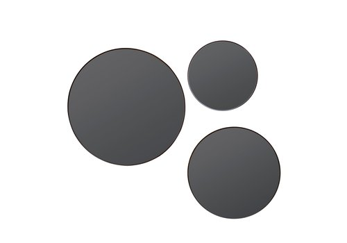 Dome Deco Round mirrors 'Black'- S3