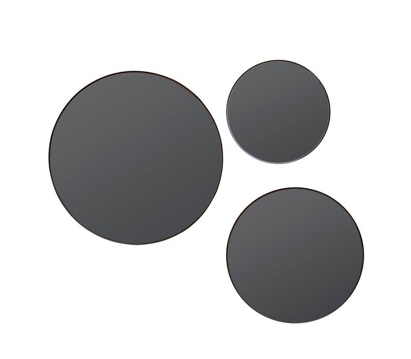 Round mirrors 'Black' S3