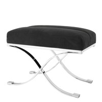 Stool 'Adonia' with high gloss stainless steel frame
