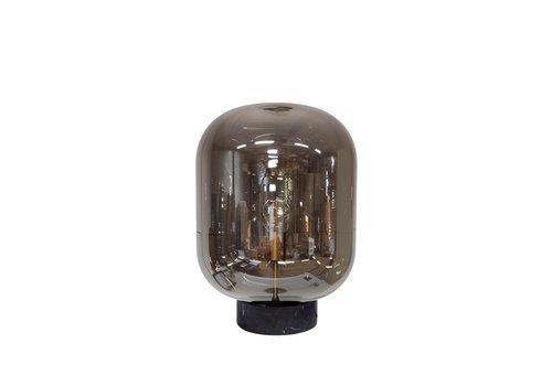 Dome Deco Tischlampe  'Glass with marble base'