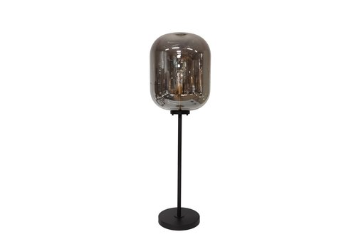 Dome Deco Floor lamp   'Glass with marble base' - S