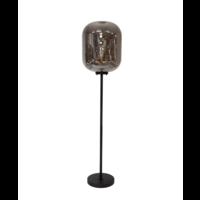 Die Stehlampe ''Glass with metal base' hat ein modernes Design