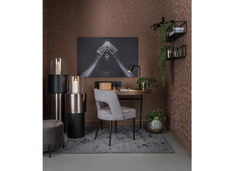 Bureau ovaal 'Plato' - Walnut Wood brown