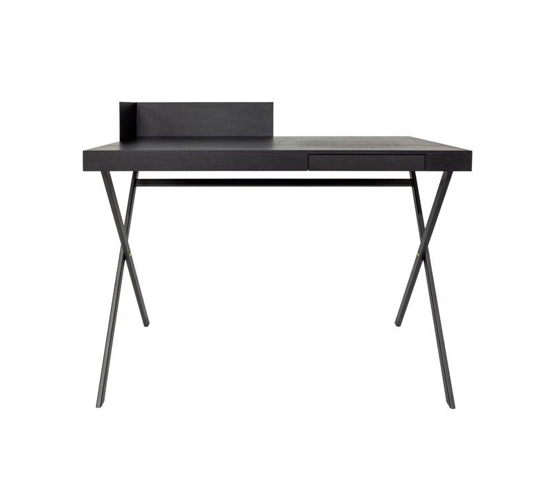 Schreibtisch oval 'Plato' in Holz - L100 x W55 x H91 cm