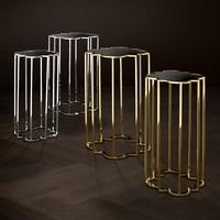 Design side tables 'Concentric' Set of 2 Gold