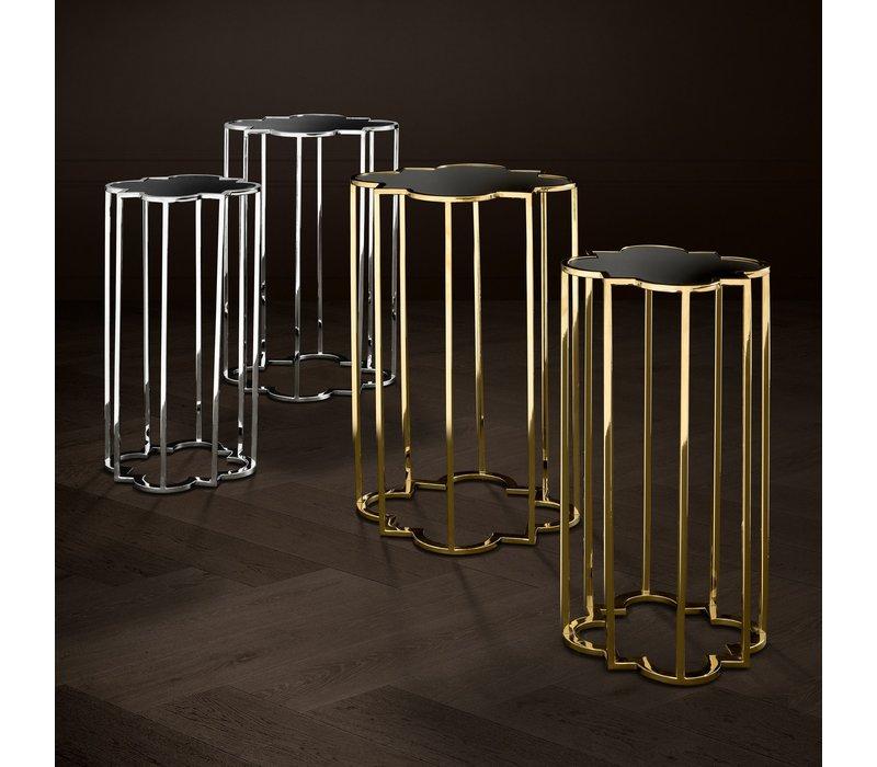 Designer-Beistelltische 'Concentric' Set von 2 Gold