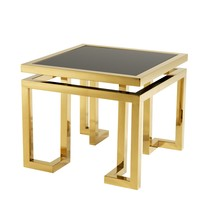 Design bijzettafel 'Palmer' Gold 65x65x55cm