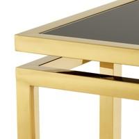 Designer-Beistelltisch 'Palmer' Gold 65x65x55cm