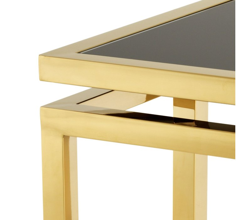 Design side table 'Palmer' Gold 65 x 65 x 55 cm