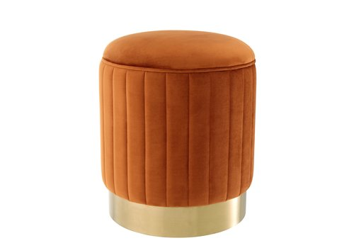 EICHHOLTZ Allegra Orange Hocker