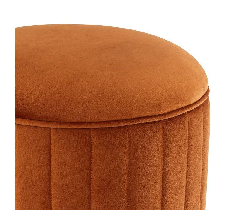 Hocker 'Allegra' Orange ø 40 x H. 45 cm