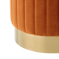 Stool 'Allegra' Orange ø 40 x H. 45 cm