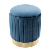 Hocker 'Allegra' Blau ø 40 x H. 45 cm