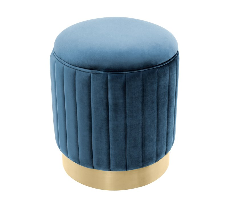 Stool 'Allegra' Blue ø 40 x H. 45 cm