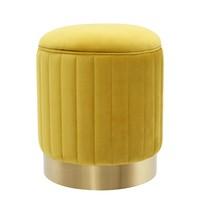 Stool 'Allegra' Yellow ø 40 x H. 45 cm