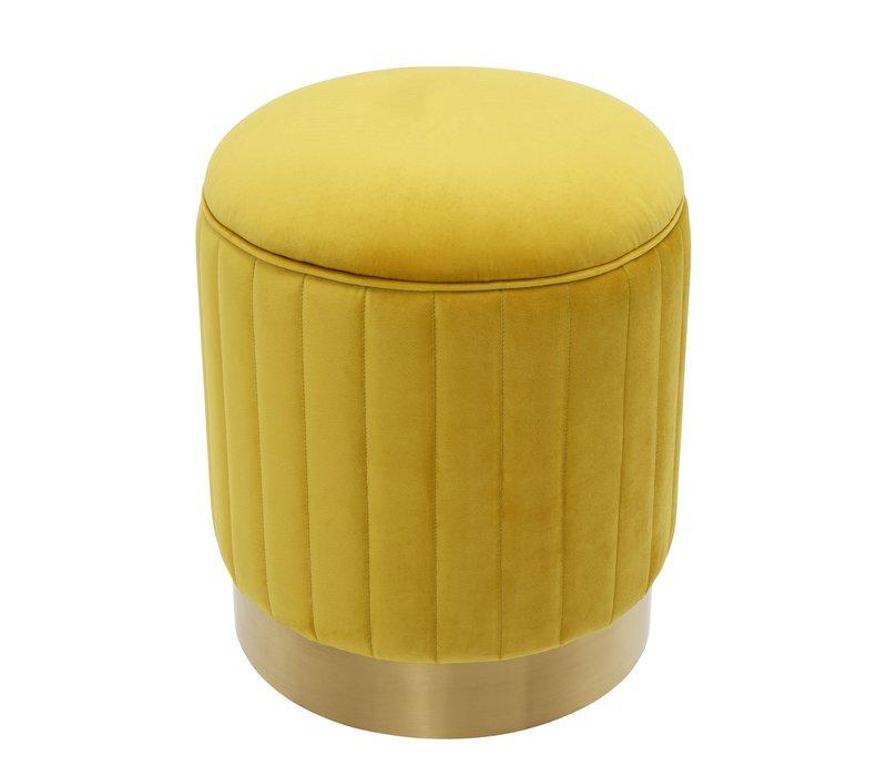 Hocker 'Allegra' Gelb ø 40 x H. 45 cm