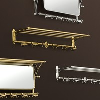 Wall coat rack 'Arini' Brass