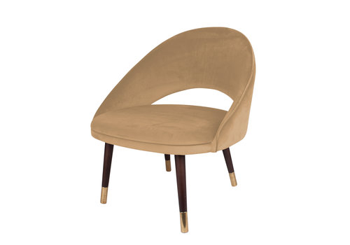 Dome Deco Bend Lounge Chair 'Brown/Gold'