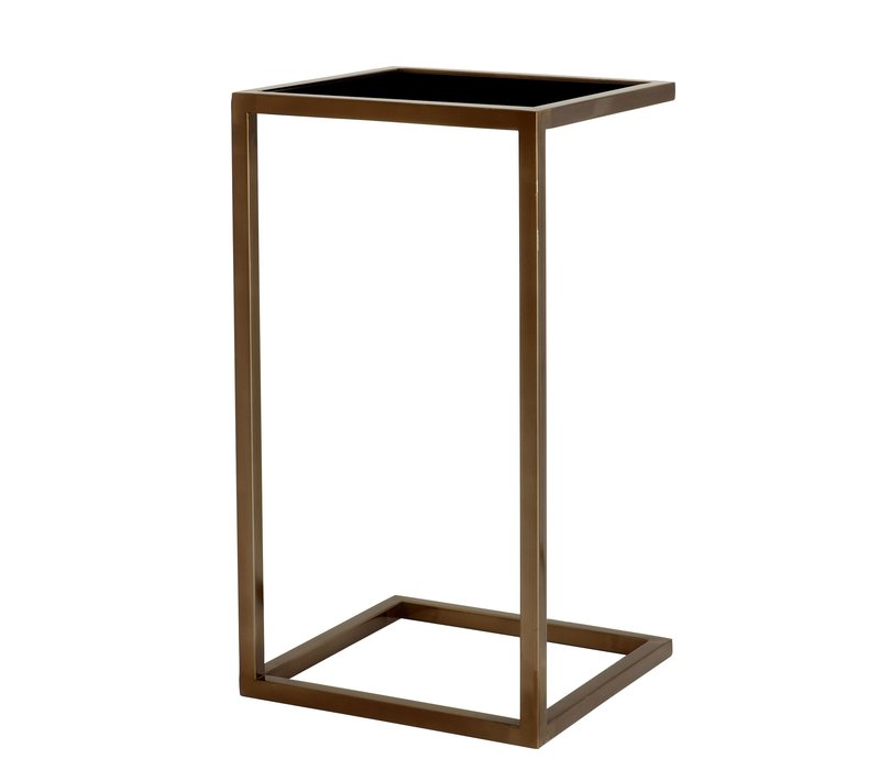 Tall side table 'Galleria Bronze 33 x 33 x 60 cm (h)