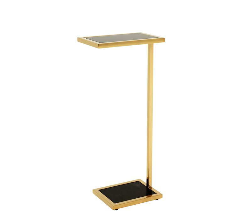 Tall side table'Paladin' Gold 31 x 20 x H72 cm