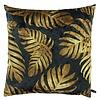 CLAUDI Cushion Jungle Leaves Ice Black / Gold