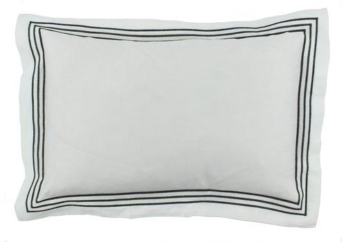 CLAUDI Bettbezug Kaia - Weiß / Dark Taupe
