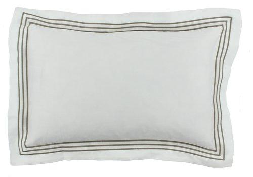 CLAUDI Bettbezug Kaia - Weiß / Taupe