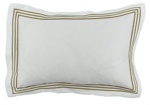 CLAUDI Bettbezug Kaia - Weiß / Olive